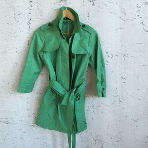 GAP GREEN TRENCH COAT XS